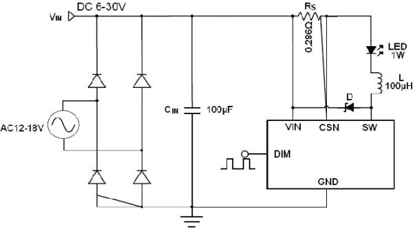降压恒流buck 串接led颗数 :  1~7颗 调光方式 :  模拟/pwm 功率mos管