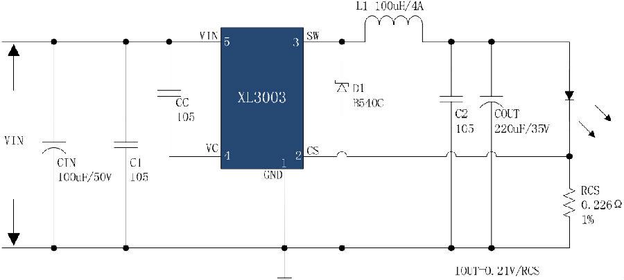 xlsemi系列直流led大功率照明系列方案