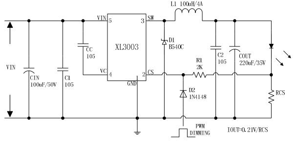 3a 输出电压 :  0~34v 输入电压 :  8v~36v 典型应用 :  led汽车灯